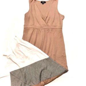Neutral Color Block Maxi Dress S Petite